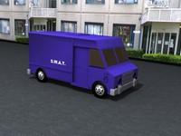 truck police 3d model