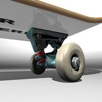skateboard wheel skate 3d model