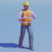 Rigged Construction Worker