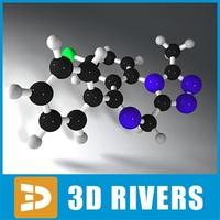 3d model alprazolam molecule structure