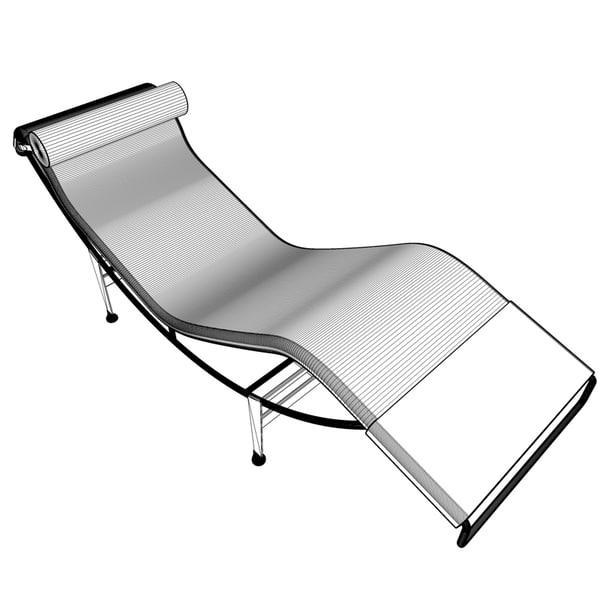 Deconstructing product design 3d model for Chaise 3d dessin