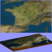 3d model france maps