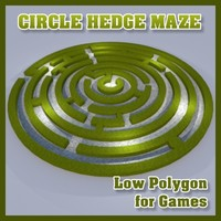 Low Polygon Circle Hedge Maze