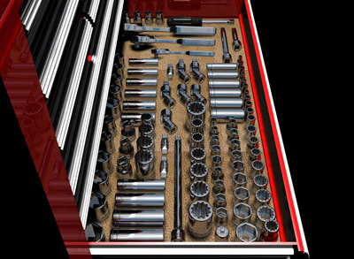 3d model craftsman hand tools rolling - Craftsman rolling tool box with tools.zip... by mvcomputers
