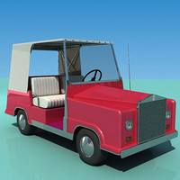 3d model rolls-royce golf-cart