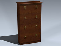 3d model shoe cabinet