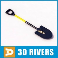 3d model shovel fighting rescue