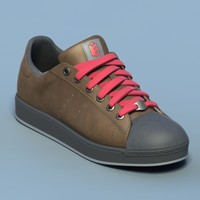 Sports shoes #02 brown red (generic logo)