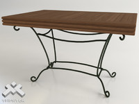 Wrought Iron Table 120x80