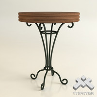 wrought iron table 3d model