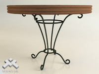 Wrought Iron Round Table D100