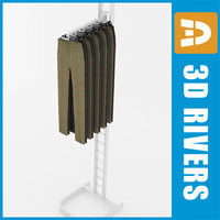 retail clothing rack trousers 3ds