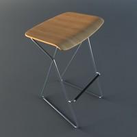 tide stool 3d model