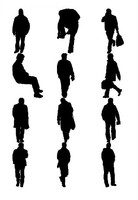 3ds man silhouettes