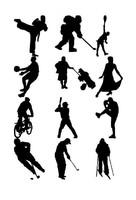 3d model sports silhouettes