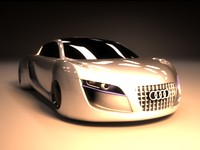 3d audi rsq concept car