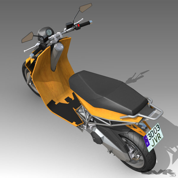 scooter motorcycle 3d model - Albura Concept Scooter... by jvr3D