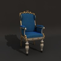 baroque chair - 3d model