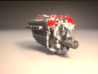 High Detail Car Engine