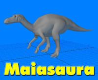 3d model maiasaura dinosaur
