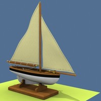 sailboat modeled 3d model
