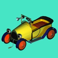 3d model childs peddle car