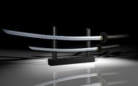 samurai swords 3d model