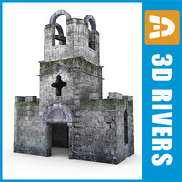3ds max dilapidated belfry