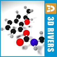 carbofuran molecule structure 3d max