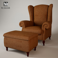 armchair stool 3d model