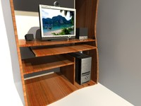 desk and computer