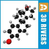 3ds max estradiol molecule structure