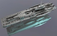 3d model frigate class ship space