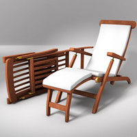 elegant deckchair chair 3d 3ds