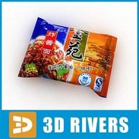 instant noodles pack food 3d obj
