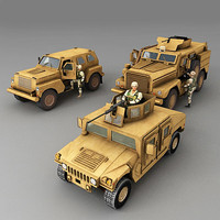 3d model cougar soldiers