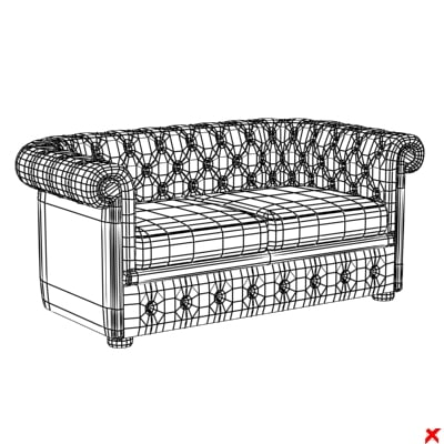 sofa loveseat 3d max - Sofa loveseat112.ZIP... by Fworx