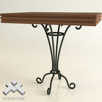 3ds wrought iron table