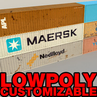 Container Low poly