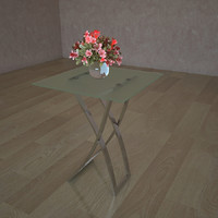 glass table sc 4318 3d 3ds