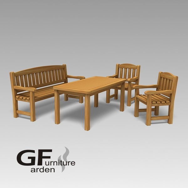 Garden furniture 60 ammersee 3d max for Outdoor furniture 3d max
