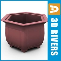 3ds max bonsai planter flowerpot