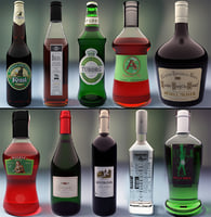 bottles modelled 3ds