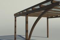 3d cover wood car model