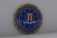 3d model fbi logo
