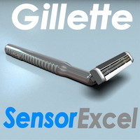 3d model razor gillette sensor excel