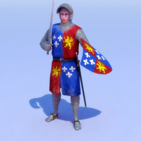 Knight-Feudal_Rigged_Max