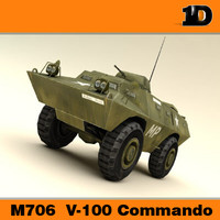 m706 v-100 commando 3d model