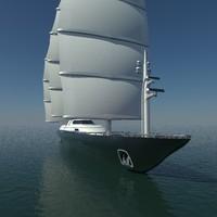 3d model mast sailing yacht