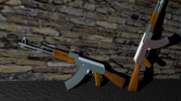 3d model of ak-47 gun